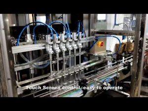 automatyczna linia 6 głowic dozujących płyn do napełniania płynem do napełniania chlorem