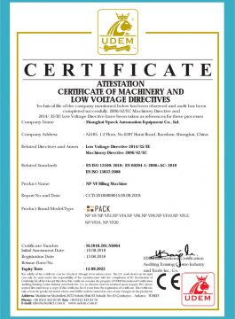 Certyfikat CE maszyny do napełniania